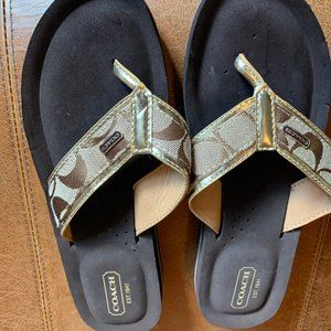 Coach sandals flip flops; NEW condition size 7.5
